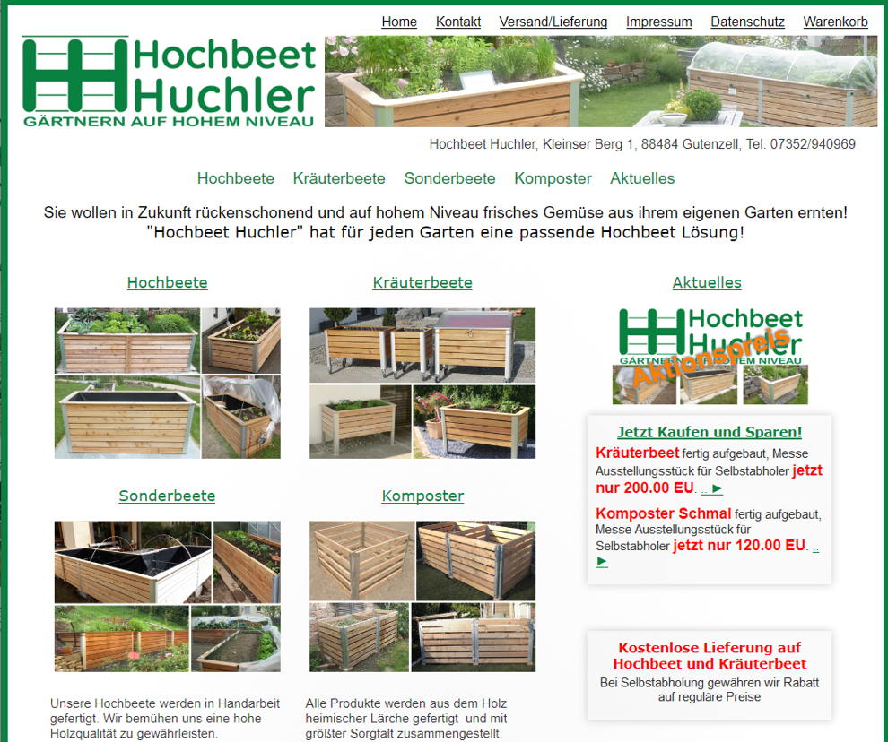Hochbeet-Huchler