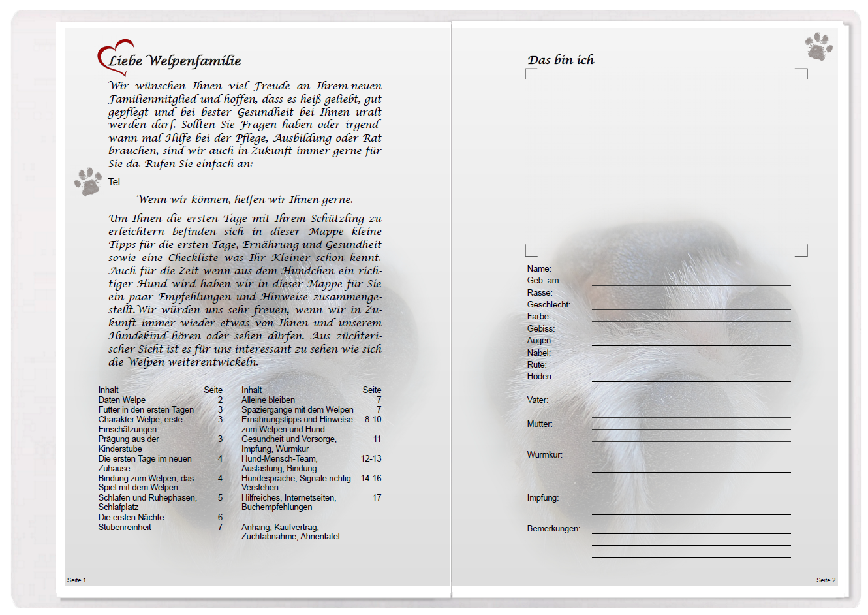 Welpenmappe Mit Tagebuch Zum Ausdrucken Und Selbstgestalten